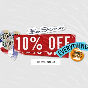 Upto 60% off Sale + Another 10% off everything with code + Free Returns @ Ben Sherman