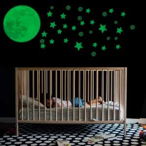 Pukkr Glow In The Dark Moon & Stars Wall Stickers £3.99 @ Roov (Free P&P Using Code)