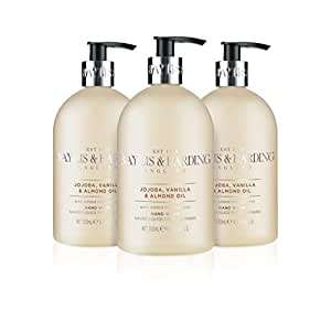 Baylis & Harding Jojoba/Silk/Almond Oil / Black Pepper and Ginseng Hand Wash, 500 ml, Pack of 3 £3.99 (+£4.49 NP) Delivered @ Amazon