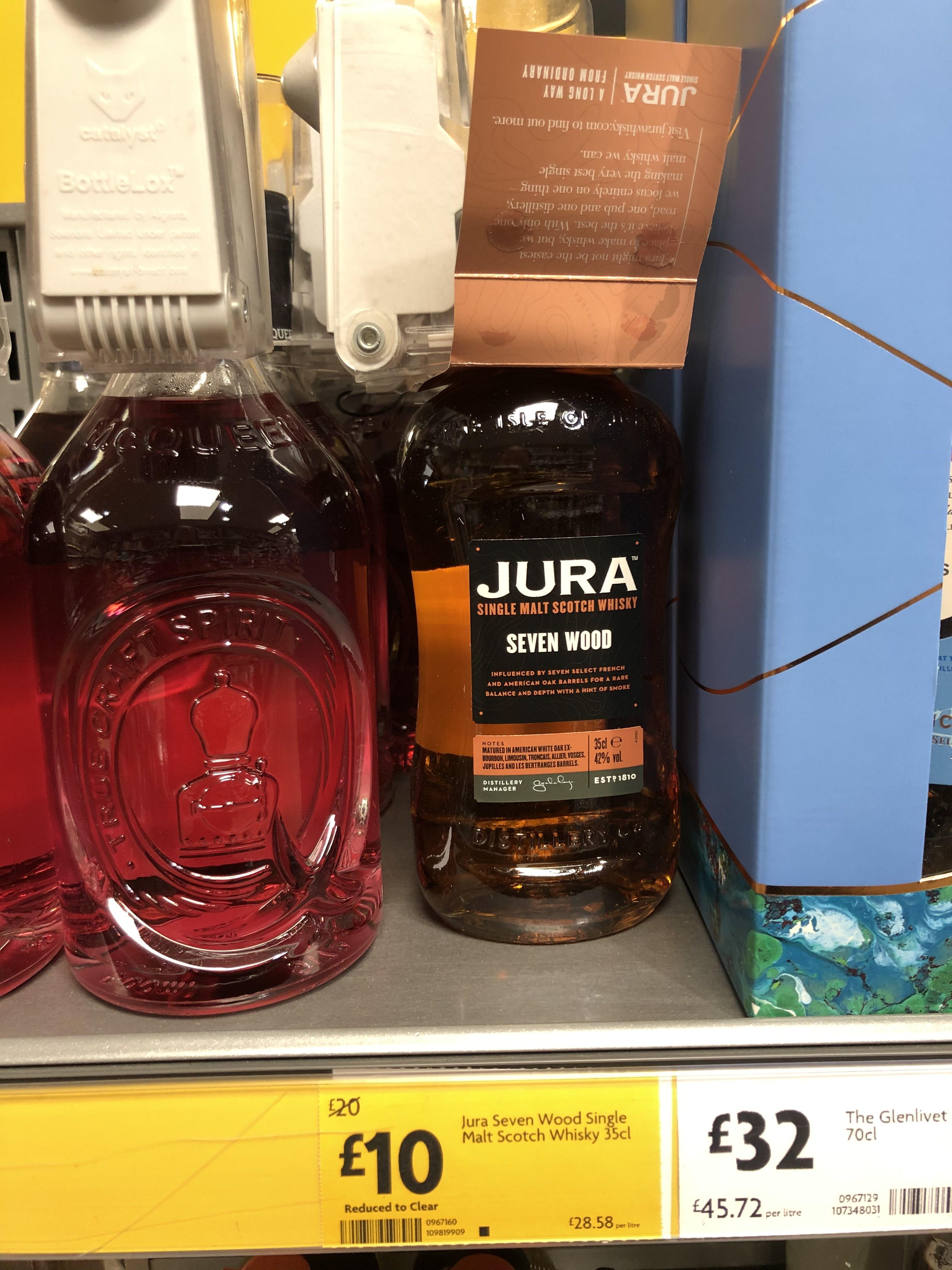 Jura Seven Wood single malt whisky 35cl £10 at Morrisons Maidstone