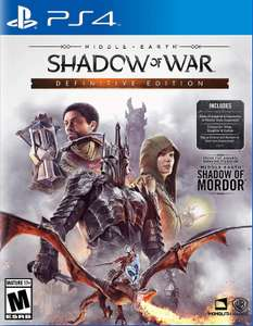 Middle Earth: Shadow of War - Definitive Edition (PS4) £12.57 Delivered @ Sold by Amazon Global Store