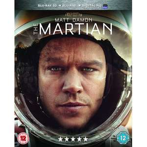 The Martian 3D + Blu-ray + Digital Download now £3.74 delivered at 365games.co.uk