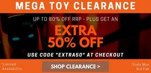 Extra 50% off at Pound Toy items from 1p @ Poundtoy p&p is £3.49