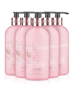 Baylis & Harding Pink Magnolia and Pear Blossom Hand Wash 300 ml,Pack of £6.00 / £5.70 via subscribe and save @ Amazon (£4.49 non Prime)