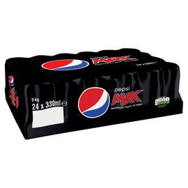 Pepsi Max Cans 24 x 330ml / Pepsi Max Cherry 24 x 330ml £5.50 @ Iceland
