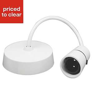 White Ceiling Light Pendant set (L) 0.15m - £1 from B&Q - stock in all locations therefore free C&C