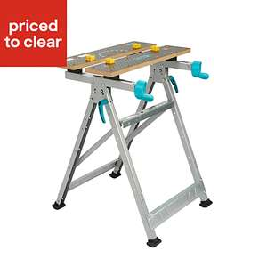 Wolfcraft Master 200 Workbench, (H) 800mm now £15 free click and collect at B&Q