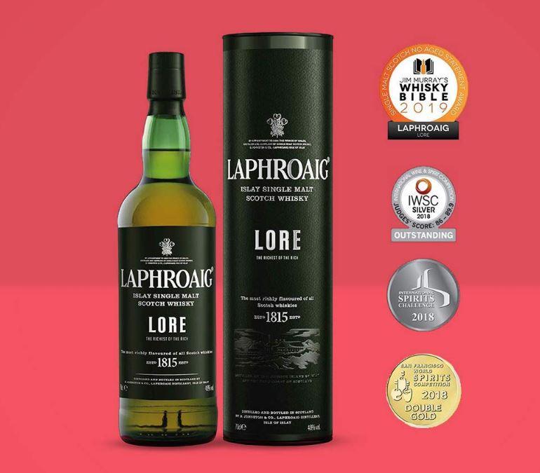 Laphroaig Lore Islay Single Malt Scotch Whisky, just £50 @ Amazon Treasure Truck