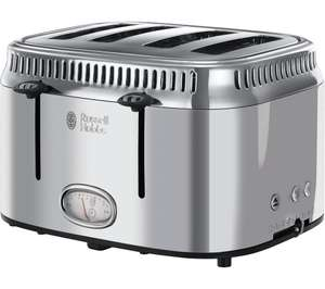 RUSSELL HOBBS Retro 21695 4-Slice Toaster - Silver £39.99 Currys