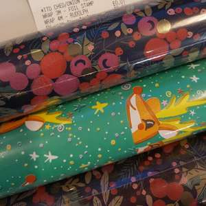Sainsburys : wrapping paper 3m & 5m & more - 1p instore