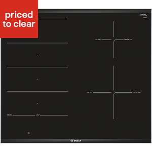 Bosch PXE675DC1E 4 Zone Black Ceramic Induction Hob £280 at B&Q