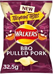 6 x 32.5g Bags of Walkers BBQ Pulled Pork Crisps. (195g) £1 Heron Foods.