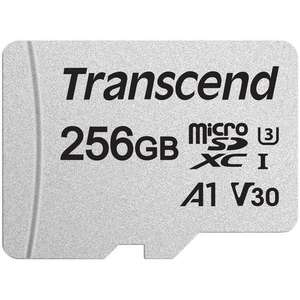 Transcend 256GB 300S V30 A1 Micro SD Card (SDXC) UHS-I U3 + Adapter - 95/45/MB/s R/W- for £22.98 Delivered @ Mymemory