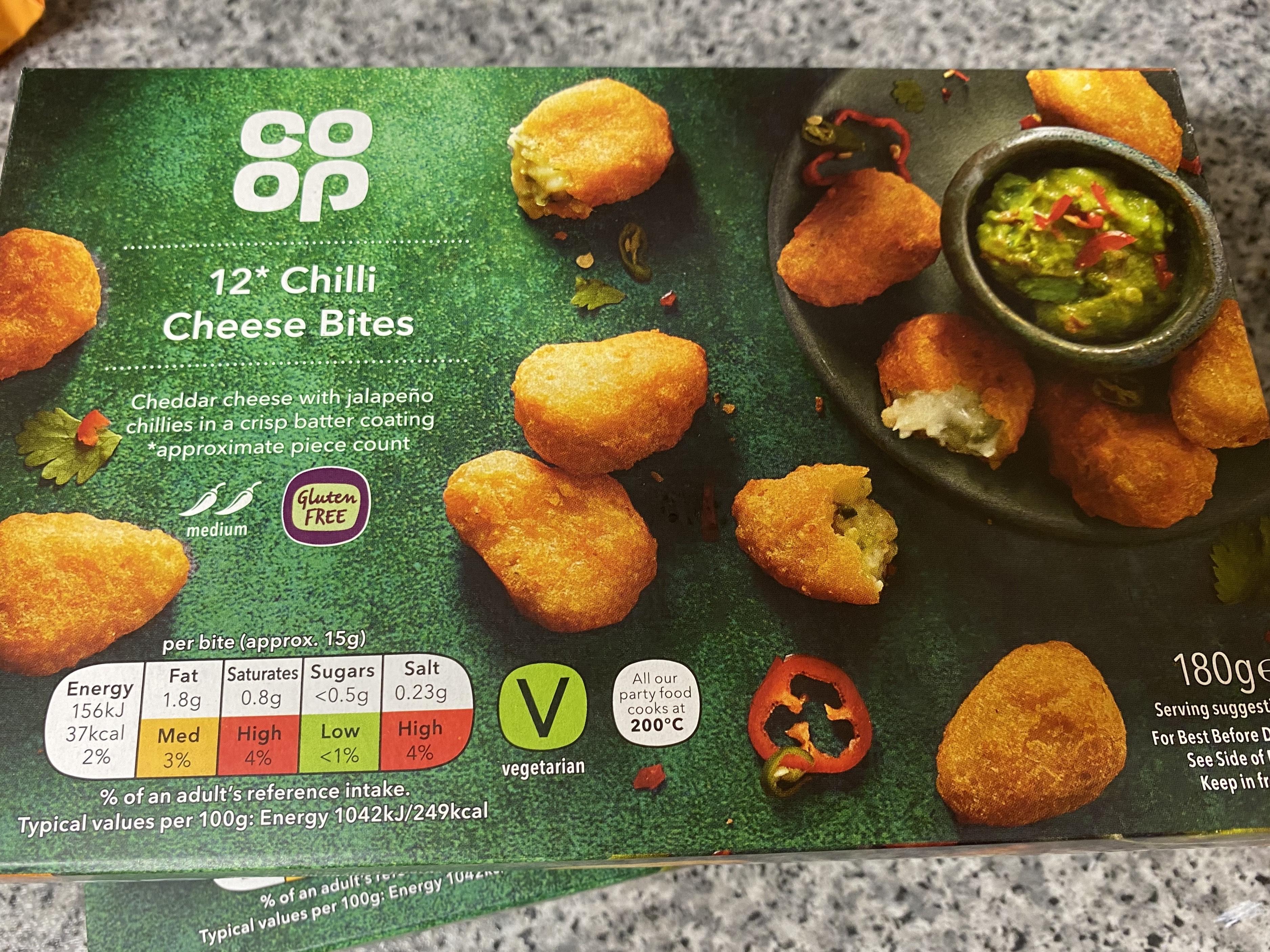 Coop Chilli Cheese Bites 56p - Instore Worthing
