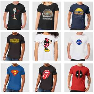 Men's & Women's T-shirts - EG: The Mandalorian / NASA / Toy Story Forky / Disney £8.99 Each + Free Delivery With Code @ Zavvi