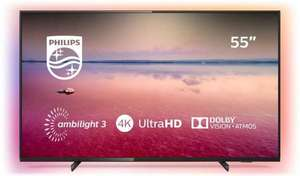 Philips 55 Inch 55PUS6704 Smart 4K HDR Ambilight LED TV + FREE Philips Sound Bar £429 @ Argos