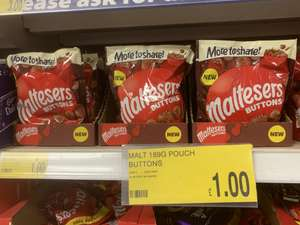 Maltesers Buttons 189g pouch £1 - National Price