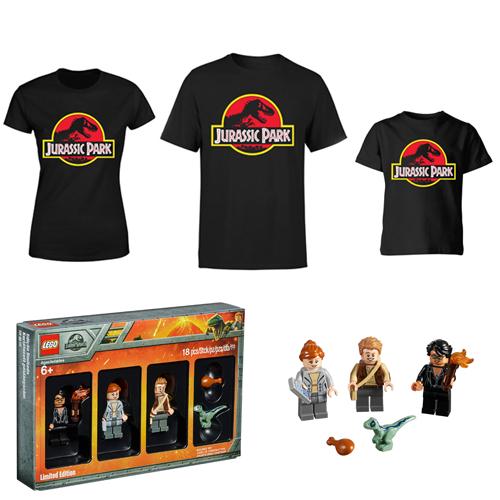 Jurassic Park T-Shirt + Lego Limited Edition Jurassic World Minifigures - Men / Women / Kids - £14.99 Delivered / Next Day +£1 @ IWOOT
