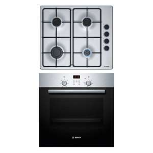 Bosch Stainless steel exterior Single Electric Oven & hob pack £190 @ B&Q