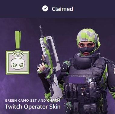 Rainbow Six Siege - FREE Twitch Operator Skin with Twitch Prime via Twitch Store