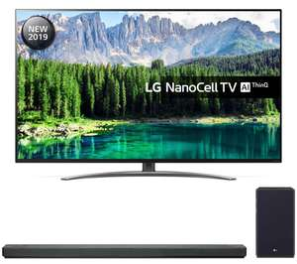 "LG 55SM8600PLA 55"" Smart 4K Ultra HD LED TV with Google Assistant + Free LG SL5Y 2.1 Channel Sound Bar + Free 5 Year Guarantee £674 @ Hughes"