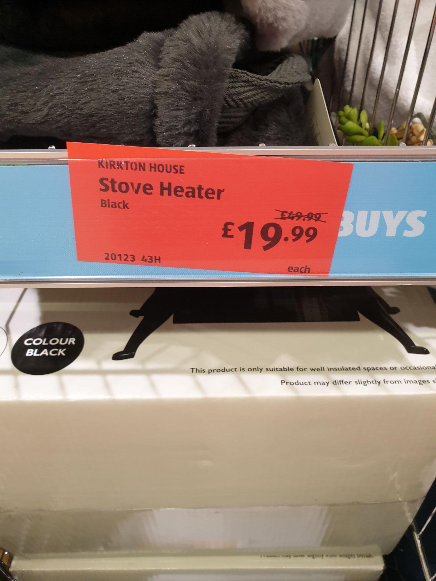 Stove effect heater £19.99 instore @Aldi