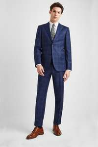 Tailored Fit Blue with Purple Check 3 Piece Suit £194.65 with code off at Moss Bros