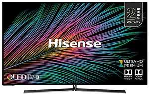 "Hisense H55O8BUK 55"" Smart 4K Ultra HD OLED TV with HDR10+, Dolby Vision, Dolby Atmos and Smooth Motion Rate 200 - £849 BT Shop"