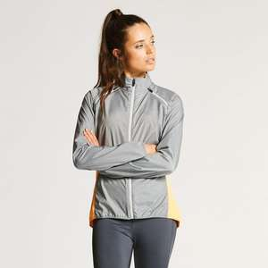Dare2b Up to 80% Clearance + Delivery £1.99 Limited Time (£3.95) Women's Unveil II Windshell Jacket Mid Grey Now £13.95/ £15.94 Delivered