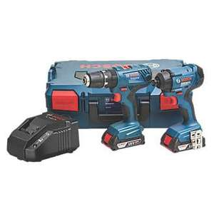 Bosch Professional 18V 2.0AH LI-ION Coolpack Cordless Combi Drill & Impact Driver Twin Pack £149.99 @ Screwfix + free Click and Collect
