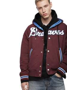 """Diesel - Men's Reversible Graphic Sweat Jacket Blue/Burgundy - Size Small ONLY (36"""" Chest) - £26 Via TK Maxx - £1.99 c&c / £3.99 delivery"""