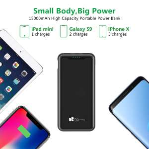 Powerbank, EC Technology 15000mAh Portable Charger with LED Digital Display £9.99 Sold by EC Technology UK Store and Fulfilled by Amazon