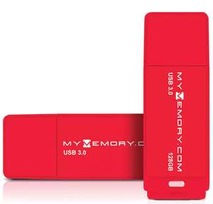 MyMemory 128GB USB 3.0 Flash Drive 200MB/s - Red (256 GB for £21.99 ) - £9.99 delivered @ MyMemory