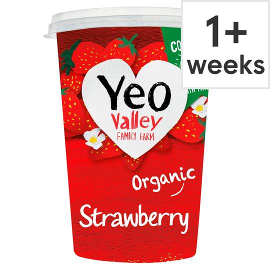 Yeo Valley Organic Strawberry / Raspberry / Vanilla / Blueberry & Lime / /Lemon Yogurt 450g @ Sainsbury's