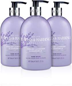 Baylis & Harding English Lavender and Chamomile Hand Wash, 500 ml, Pack of 3 £4.50 at Amazon Prime / £8.99 Non Prime