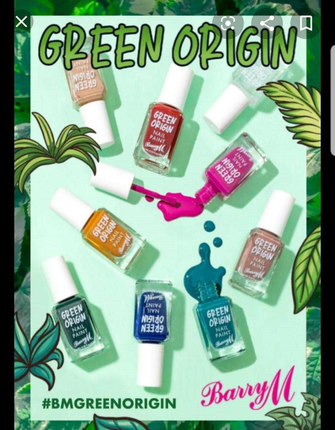 Barry M Green Origin nail polishes £1.99 @ Superdrug