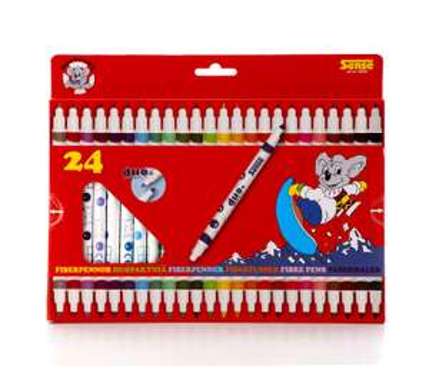 Sense 10308 Dual Tip Washable Felt Tip Colouring Pens for Kids and Children, Set of 24 Colours £1.99 (Prime) £6.48 (Non-Prime) @ Amazon