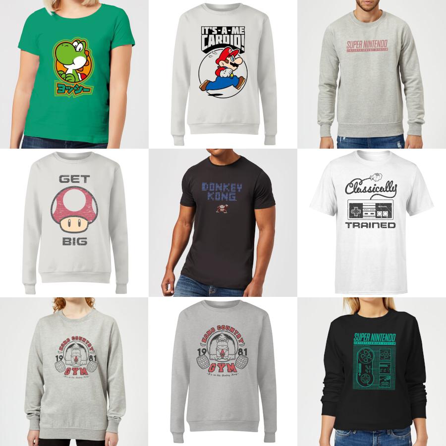 Mix & Match - Nintendo Sweatshirt + T-Shirt For £18 Delivered Using Code @ Zavvi