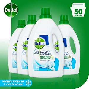 Dettol Antibacterial Laundry Cleanser Liquid Additive, Fresh Cotton, Multipack of 4 x 1.5 Litre £10.49 @ Amazon (+£4.49 Non-prime)