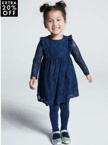 Girls lace dress £4.80 with click and collect @ M&Co
