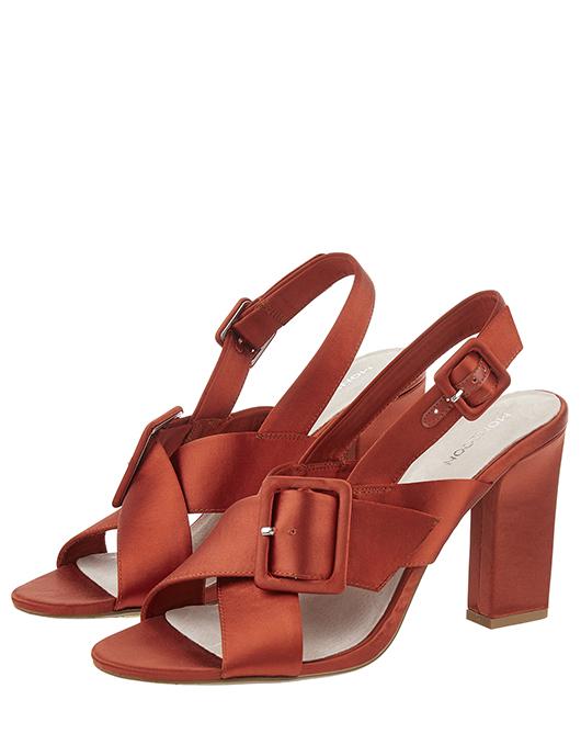 Sabra Satin Buckle Sandals (SIZE 39 ONLY) £12 Sabra Satin bag to match £12 @ Monsoon
