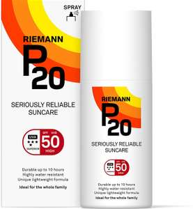 Riemann P20 Once a Day 10 Hours Protection SPF50 Sunscreen 200ml £15.27 + £4.49 NP @ Amazon