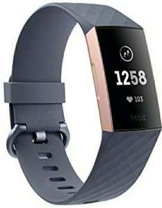 Fitbit Charge 3 Advanced Fitness Tracker with Heart Rate, Swim Tracking & 7 Day Battery - Rose-Gold/Grey, One Size £79.99 @ Amazon