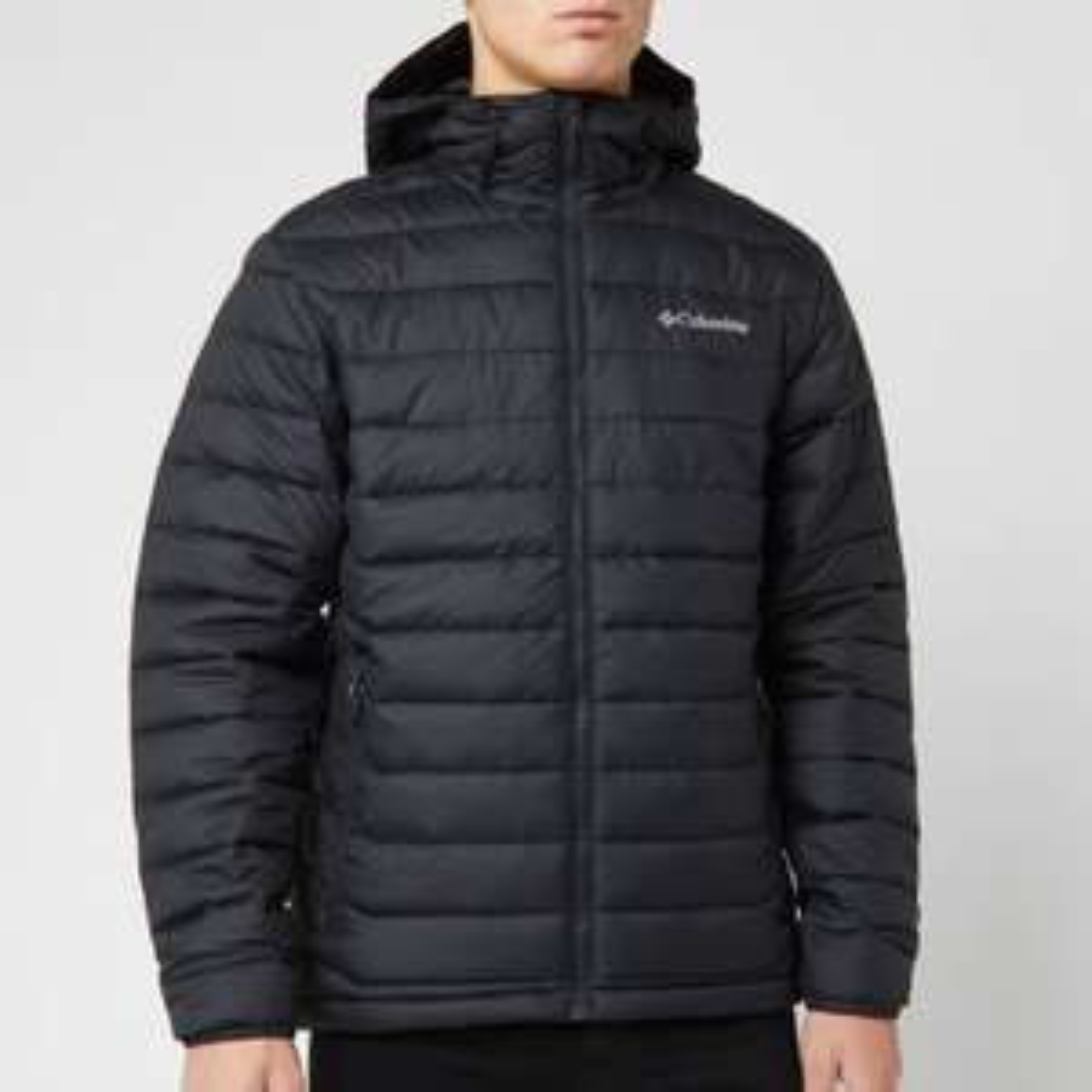 Columbia Men's Powder Lite Hooded Jacket - Black Size L only