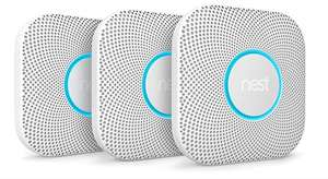 Nest Protect Smoke + Carbon Monoxide Alarm (2nd Gen.) Battery operates (Pack of 3) £140 @ Amazon