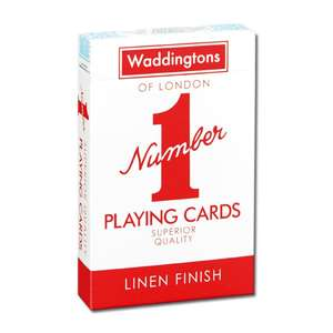 """Waddingtons """"Number 1"""" Playing Cards £1.45 @ Amazon Prime (+£1.99 non Prime)"""