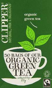 Clipper Fairtrade Organic Green 50 Teabags (Pack of 6, Total 300 Teabags) £3.75 @ Amazon Prime (+£3.49 non Prime)