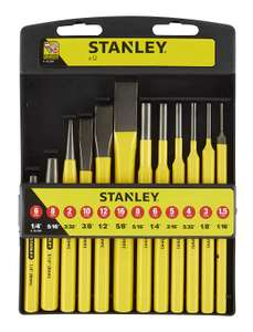 Stanley 418299 Punch and Chisel Set (12 Pieces) £11.99 (Prime) £16.48 (Non-Prime) @ Amazon