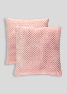 2 Pack Fleece Cushions (43cm x 43cm) Pink - £4 + free Click and Collect @ Matalan