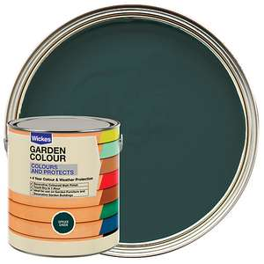 Wickes Garden Colour Matt Wood Treatment - Spruce Green 2.5L (More in OP) £3